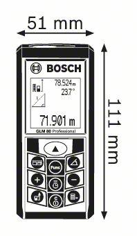 Bosch GLM 80 laseravstandmåler